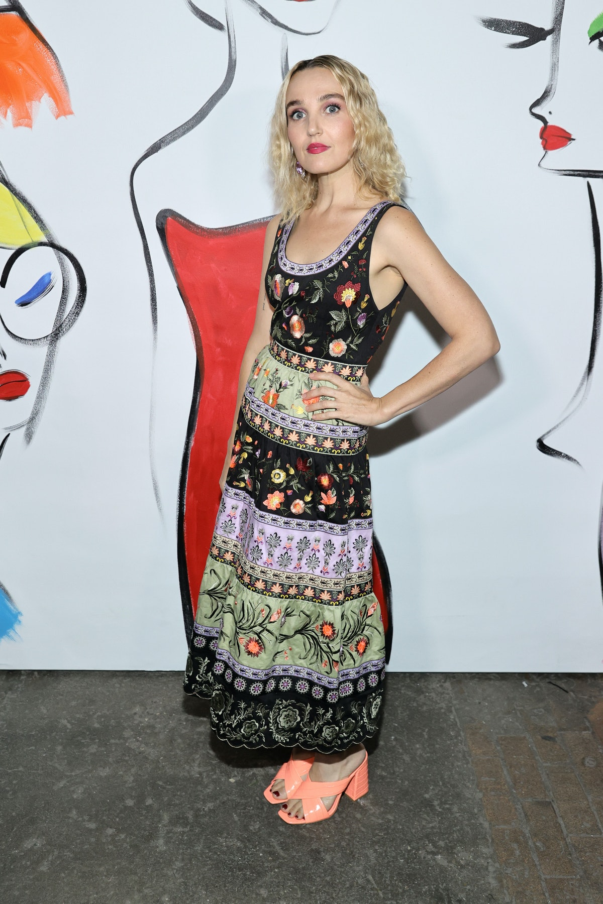 Chloe Fineman attends alice + olivia by Stacey Bendet during September 2021 - New York Fashion Week:...