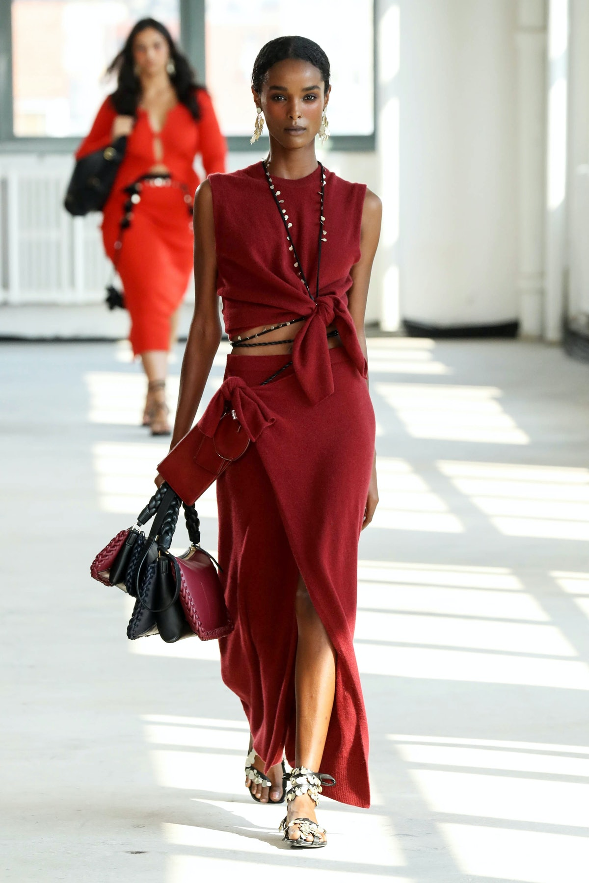 A model walks the runway for Altuzarra during NYFW: The Shows on September 12, 2021 in New York City...