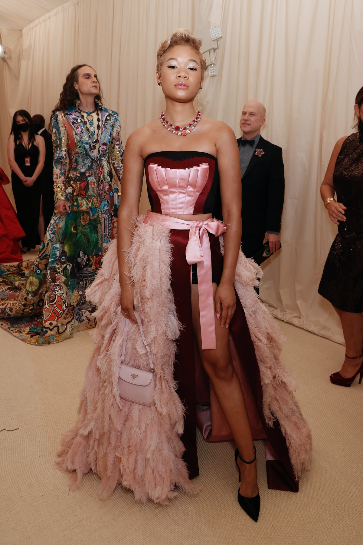 Storm Reid attends The 2021 Met Gala Celebrating In America: A Lexicon Of Fashion at Metropolitan Mu...