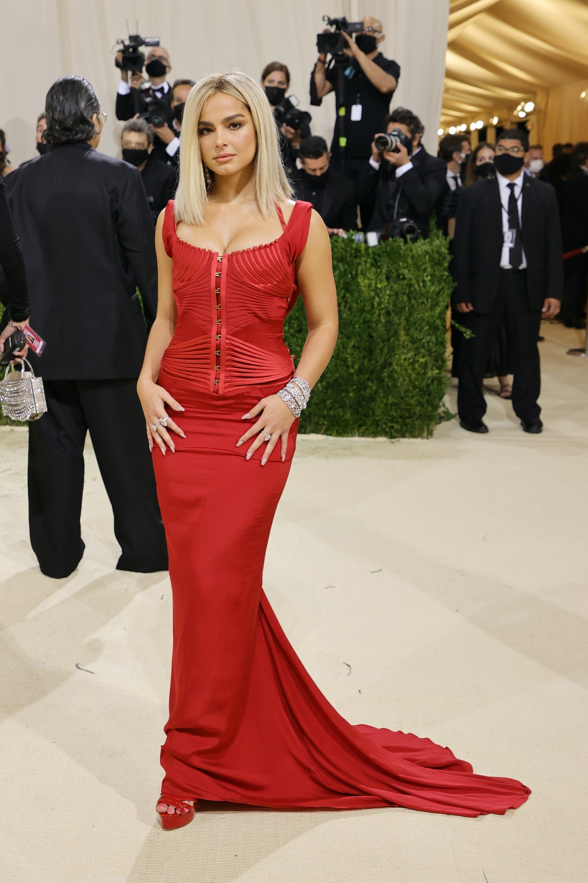 Addison Rae attends The 2021 Met Gala Celebrating In America: A Lexicon Of Fashion at Metropolitan M...
