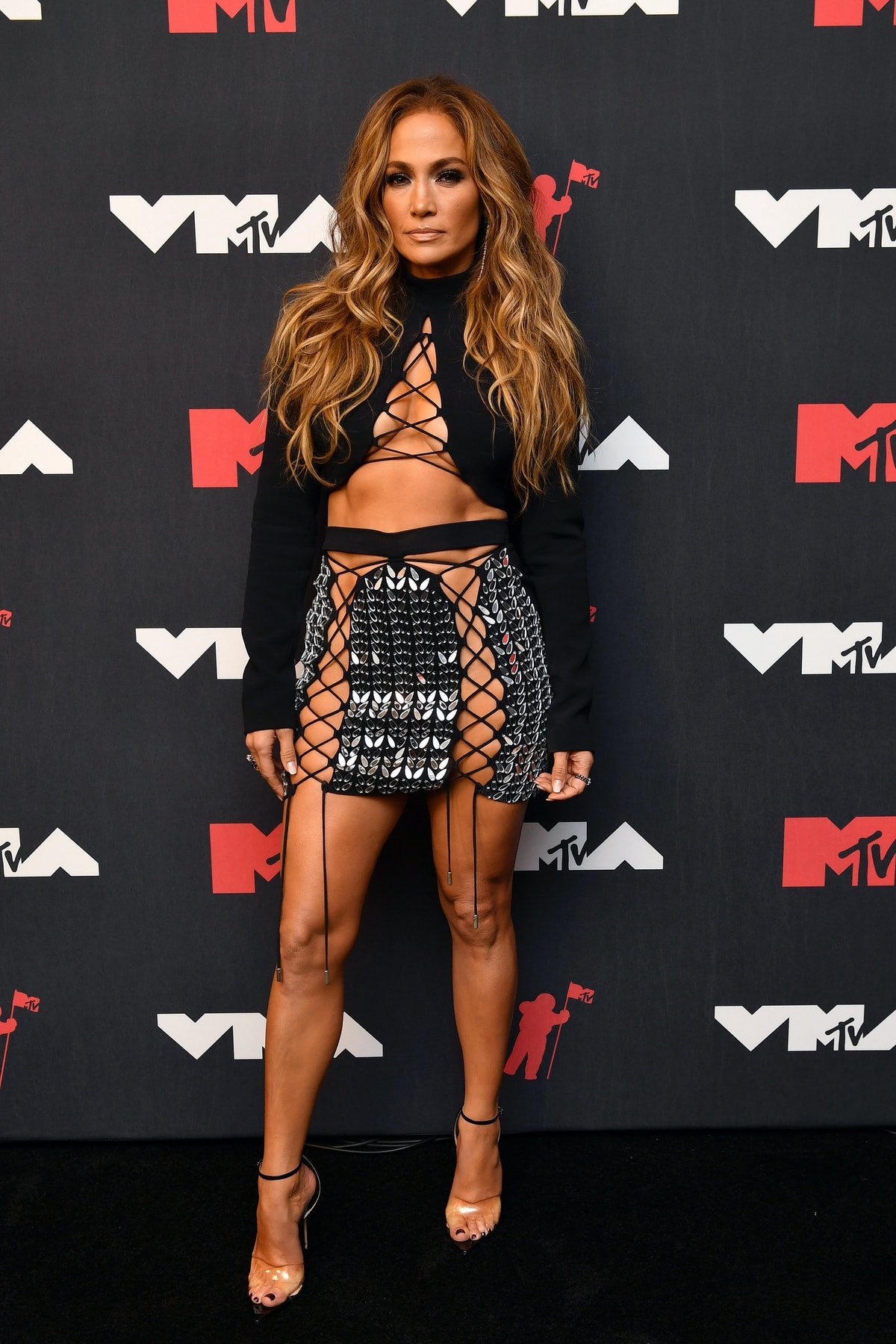 Jennifer Lopez attends the 2021 MTV Video Music Awards at Barclays Center on September 12, 2021 in t...