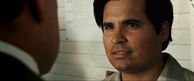 Michael Peña plays Cesar Chavez in the film.