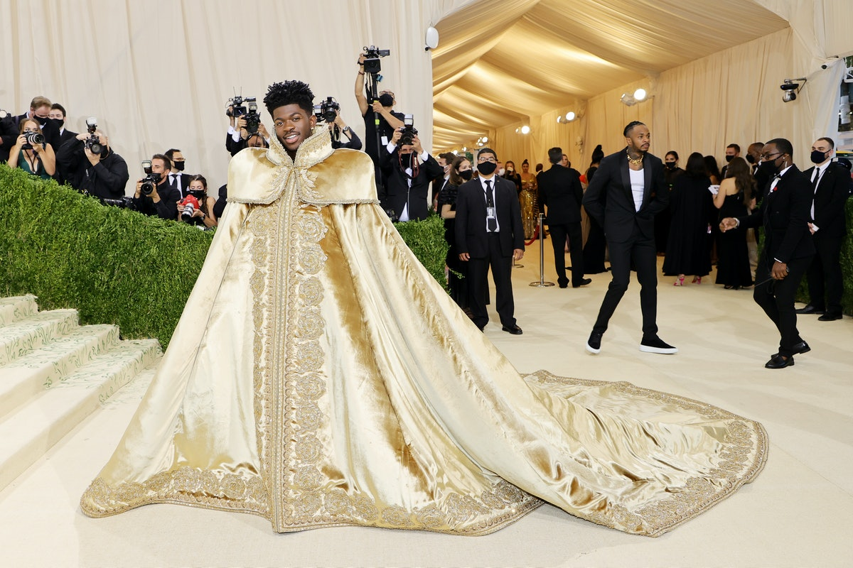 Lil Nax X attends The 2021 Met Gala Celebrating In America: A Lexicon Of Fashion at Metropolitan Mus...