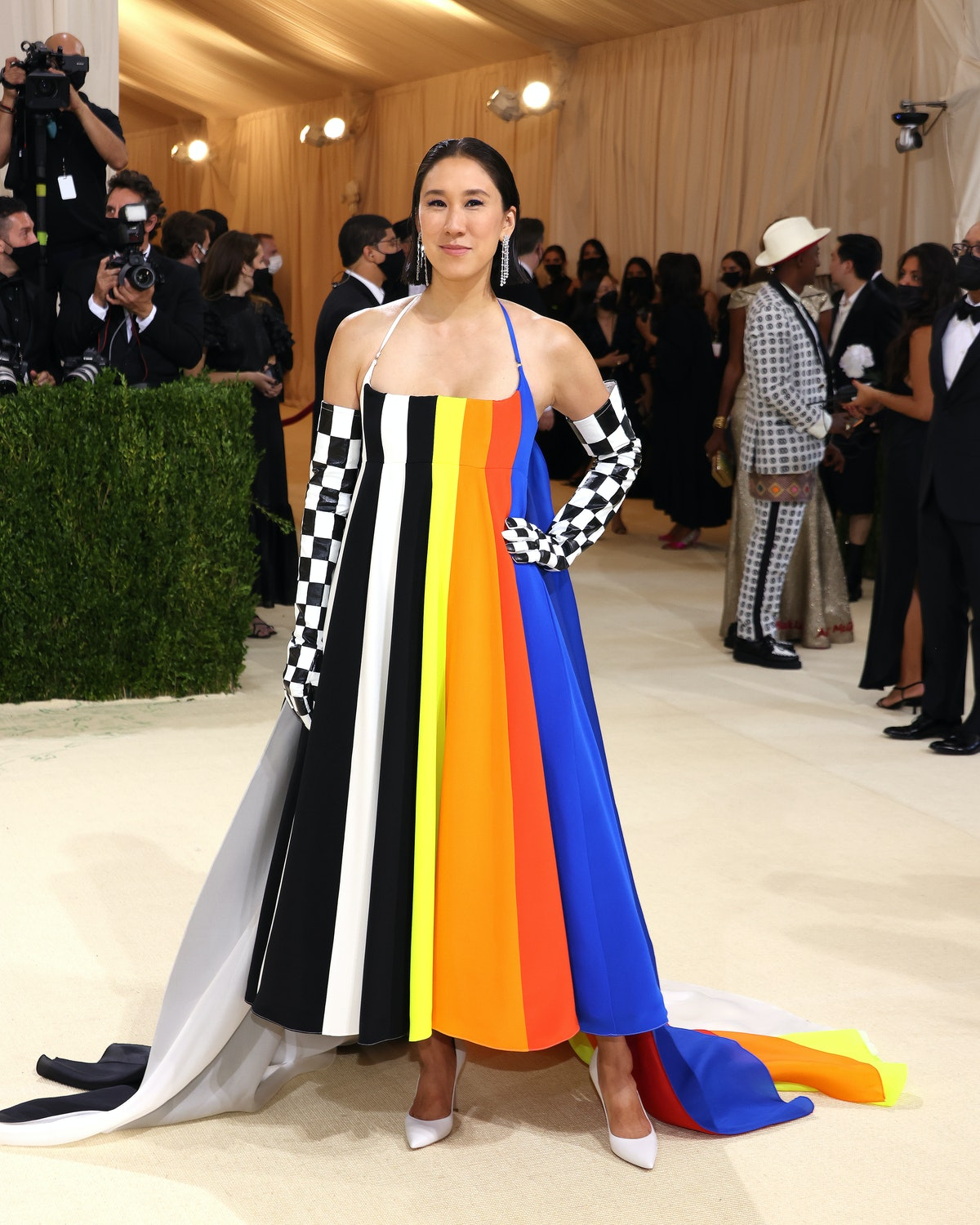 Eva Chen attends The 2021 Met Gala Celebrating In America: A Lexicon Of Fashion at Metropolitan Muse...