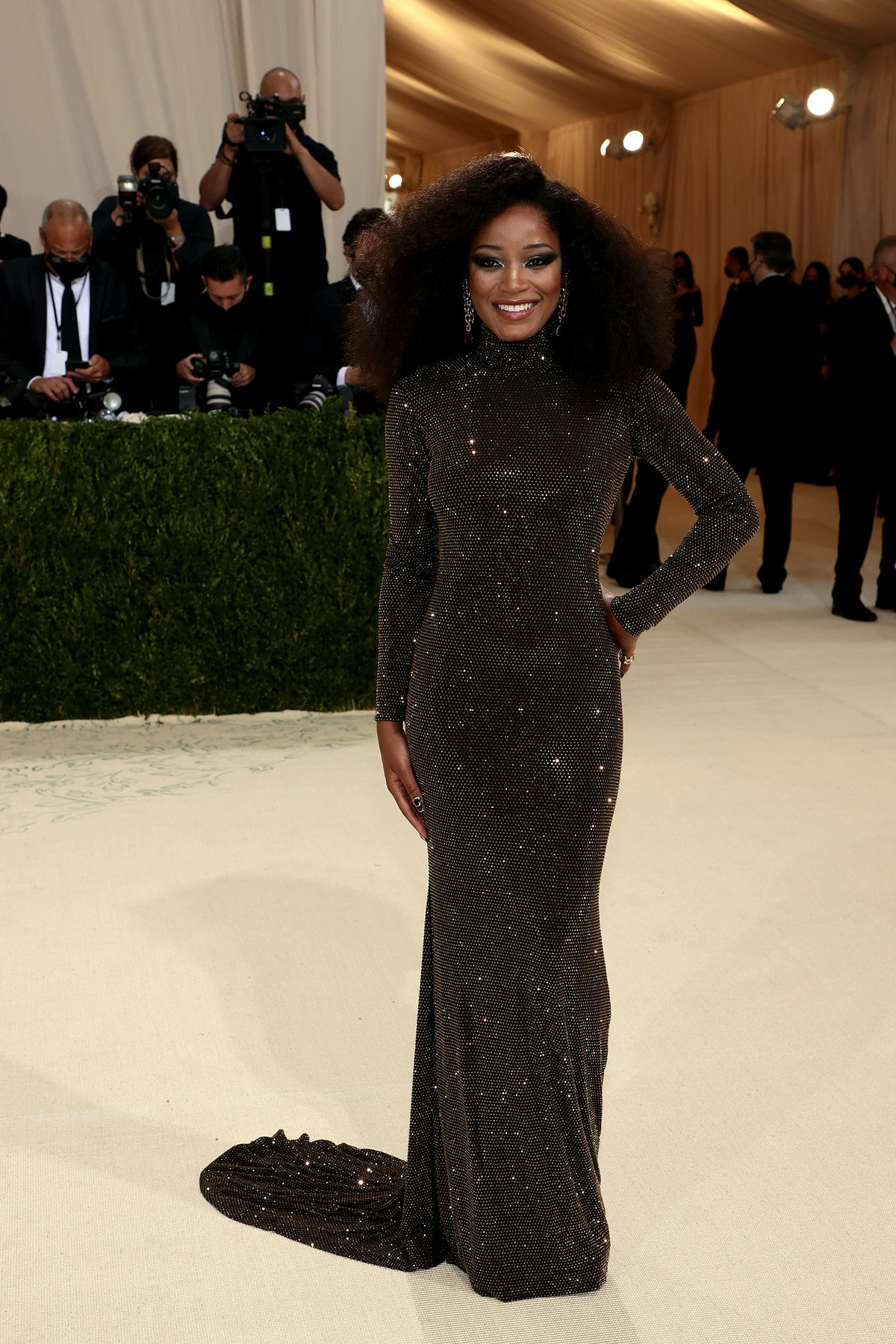 Keke Palmer attends The 2021 Met Gala Celebrating In America: A Lexicon Of Fashion at Metropolitan M...