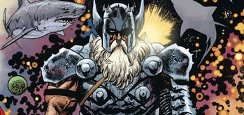 King Thor stands with the sharks in Thor Vol. 5 #5