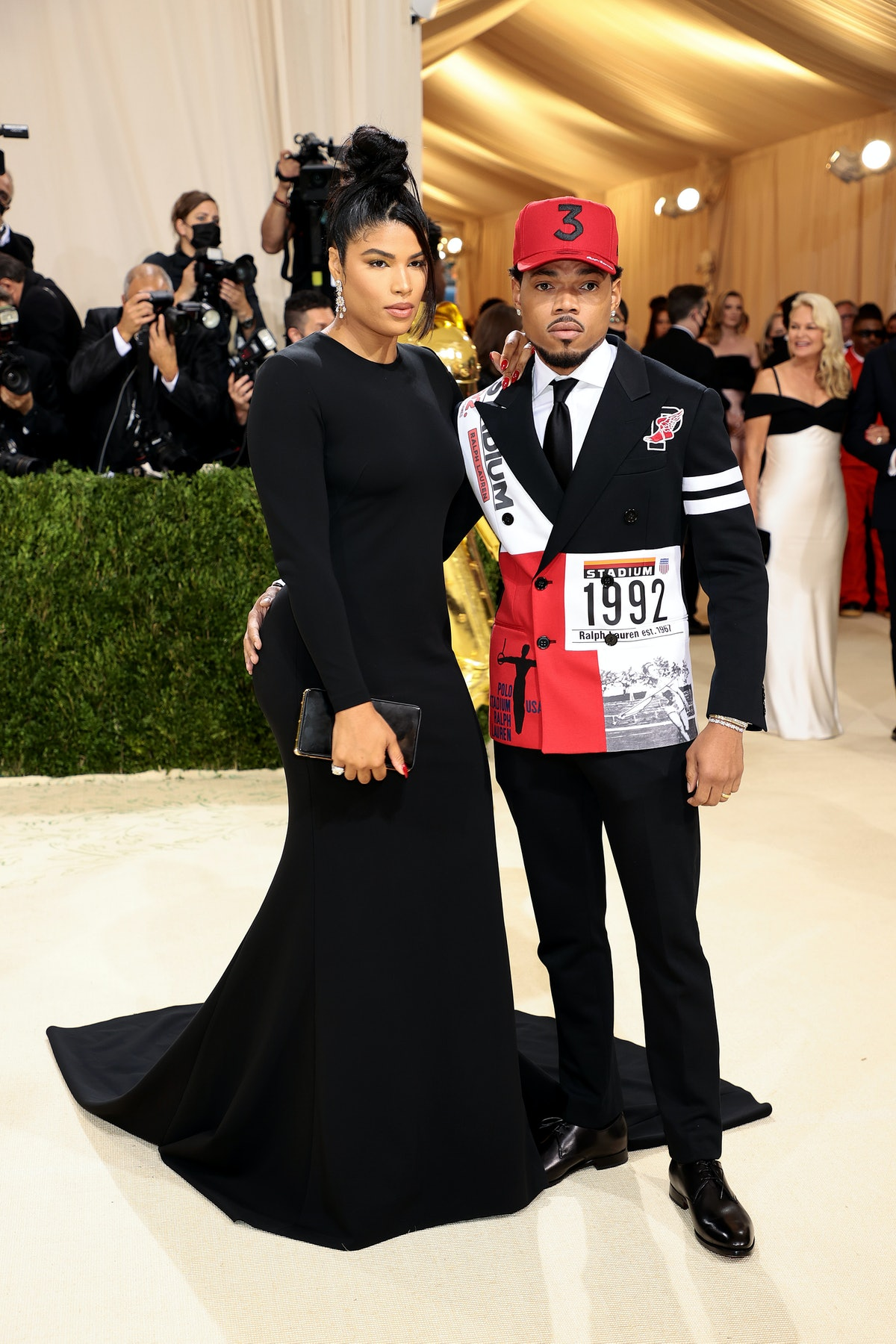 Chance the Rapper and Kirsten Corley attend The 2021 Met Gala Celebrating In America: A Lexicon Of F...
