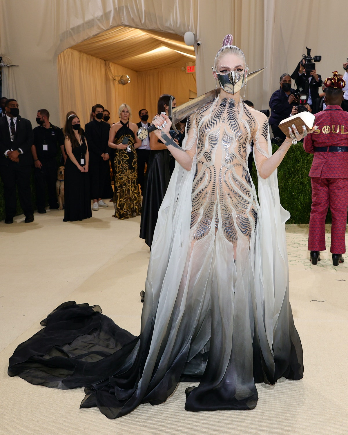 Grimes attends The 2021 Met Gala Celebrating In America: A Lexicon Of Fashion at Metropolitan Museum...