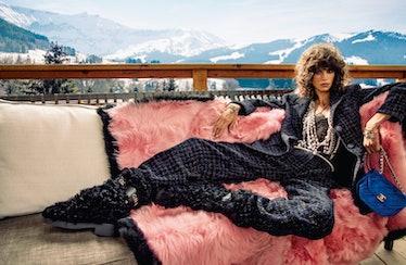 Mica Argañaraz in a Chanel campaign