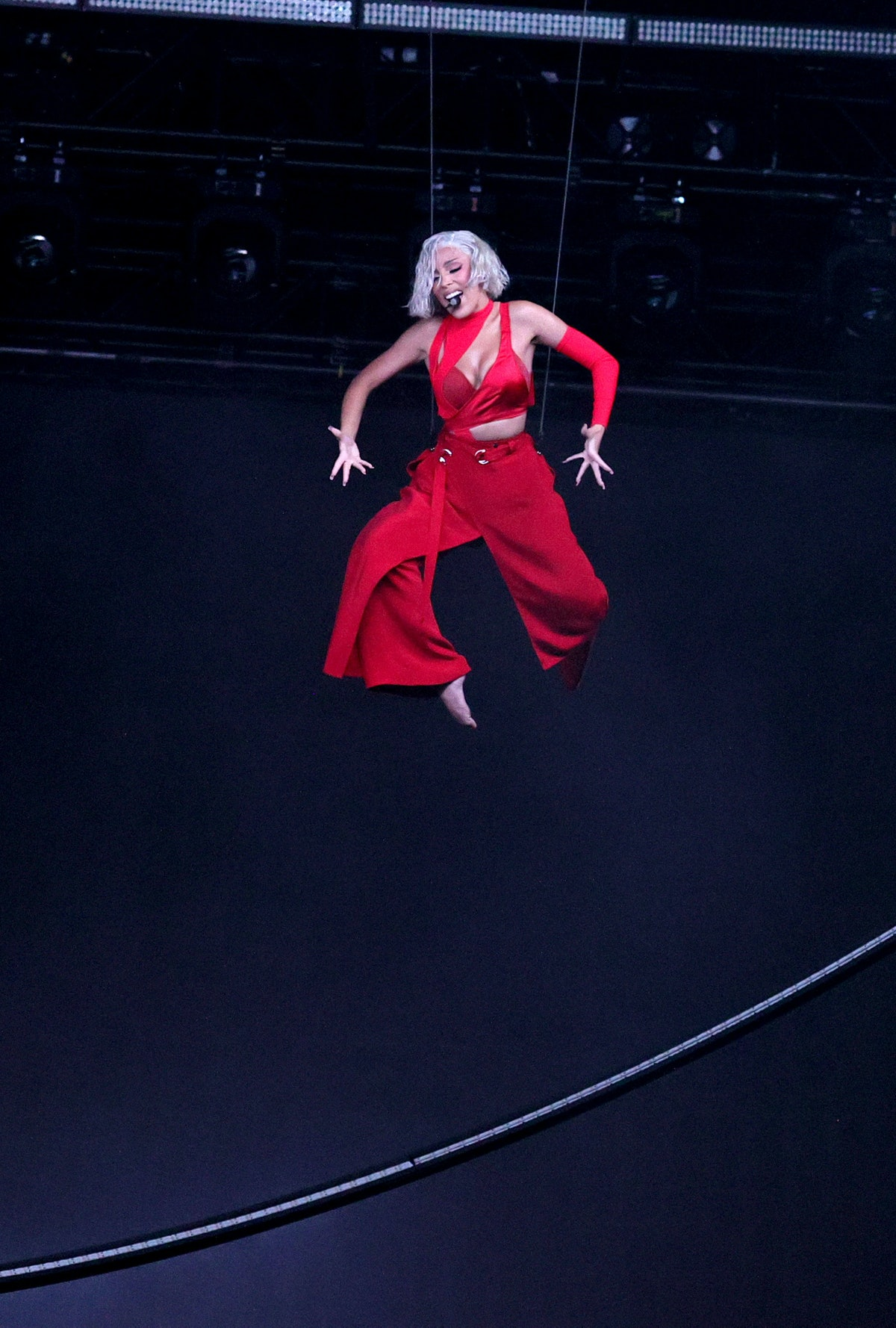 Doja Cat performs onstage during the 2021 MTV Video Music Awards at Barclays Center on September 12,...
