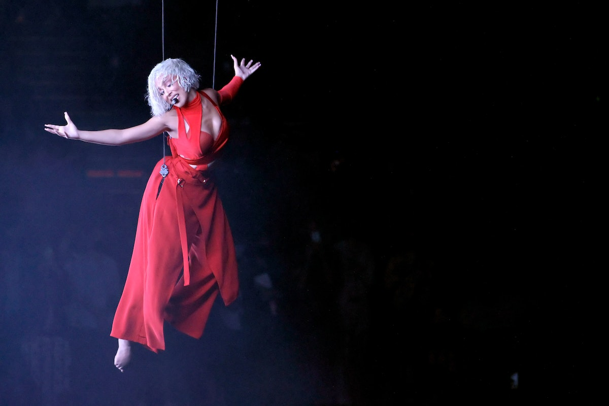 Doja Cat performs onstage during the 2021 MTV Video Music Awards at Barclays Center on September 12...