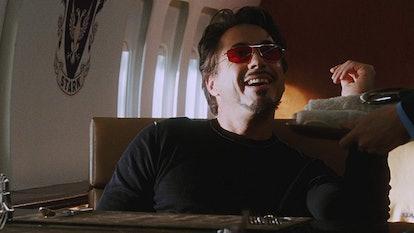 Robert Downey Jr. as Iron Man in a still of 'Iron Man.'