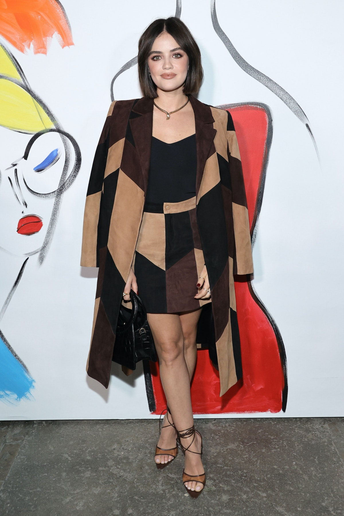 Lucy Hale attends alice + olivia by Stacey Bendet during September 2021 - New York Fashion Week: The...