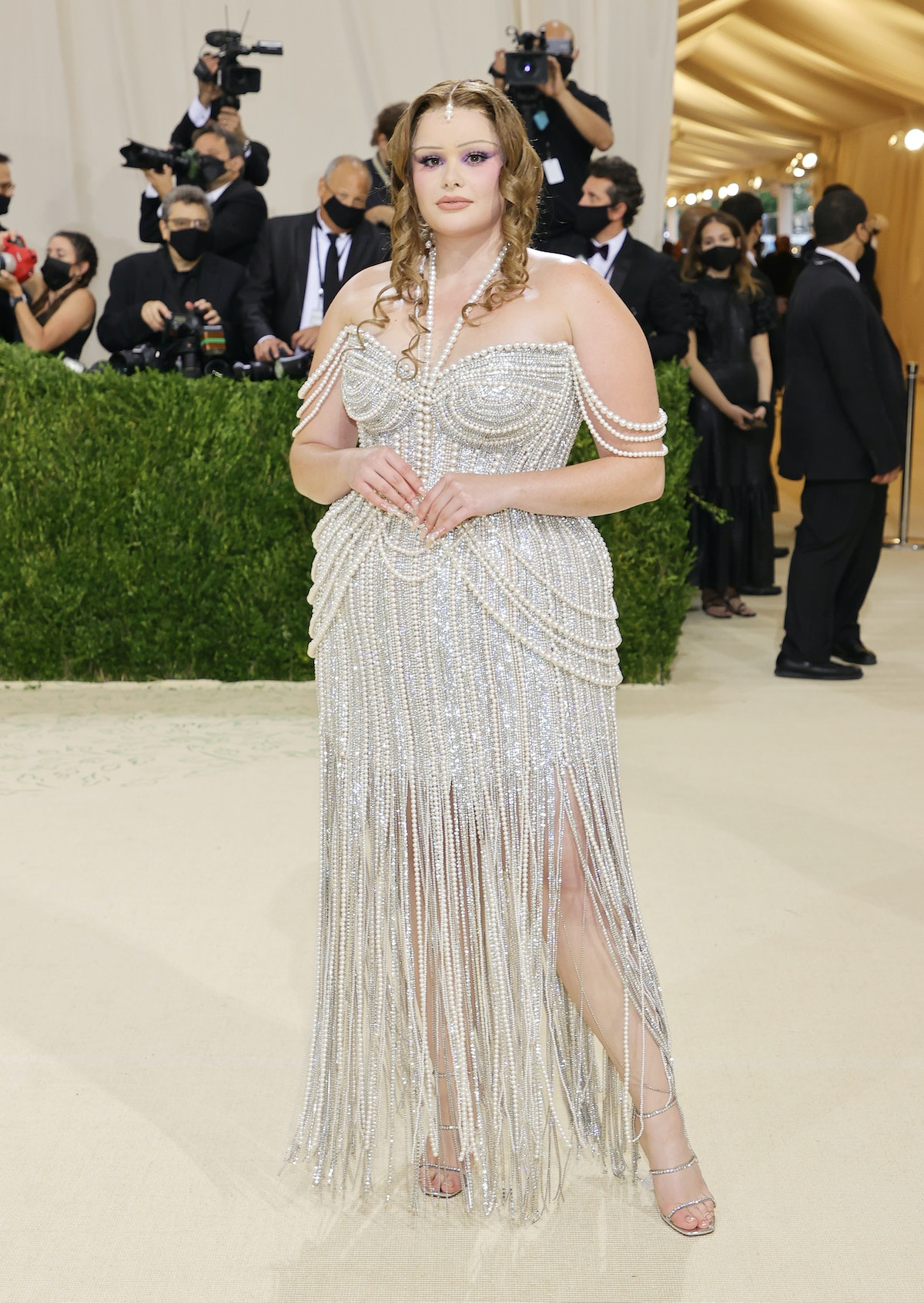 Barbie Ferreira attends The 2021 Met Gala Celebrating In America: A Lexicon Of Fashion at Metropolit...