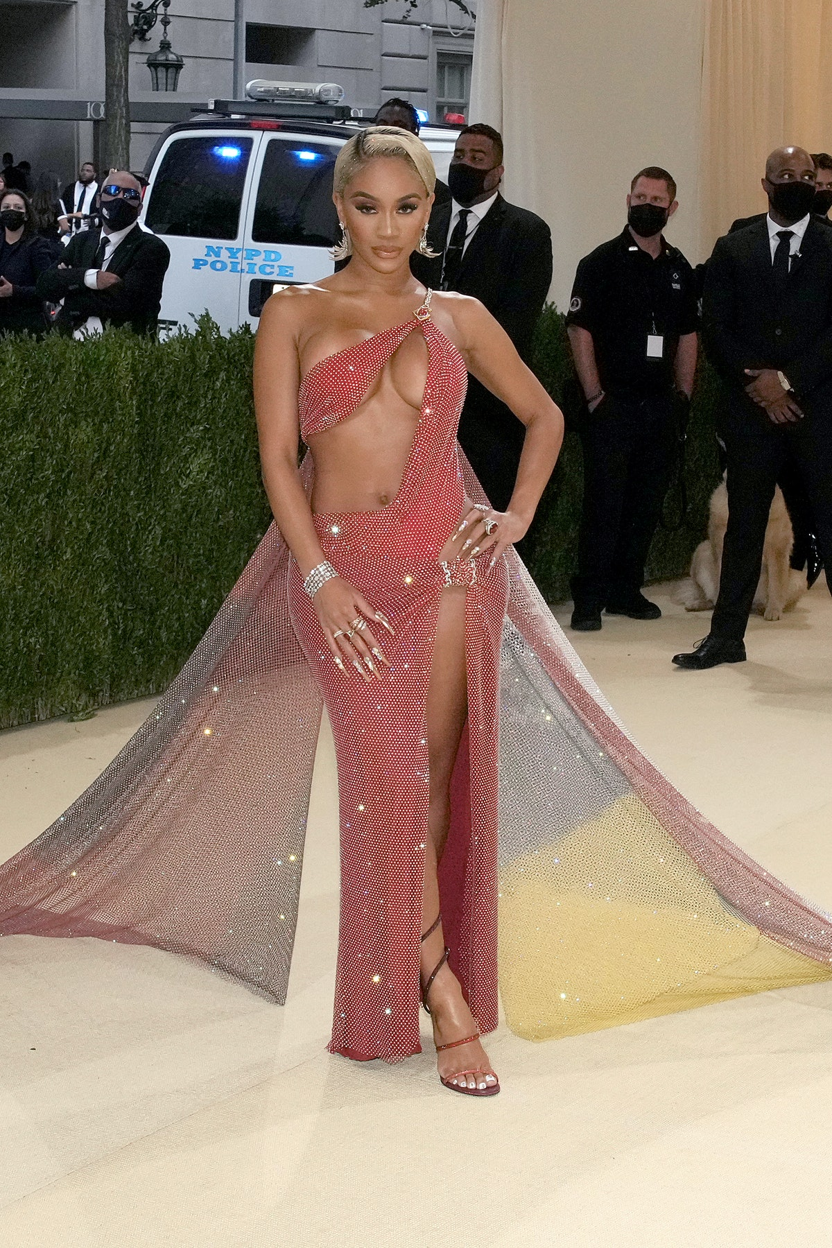 Saweetie attends The 2021 Met Gala Celebrating In America: A Lexicon Of Fashion at Metropolitan Mus...