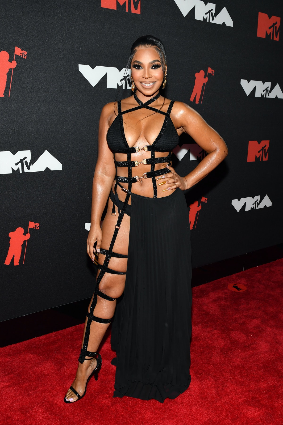 Ashanti attends the 2021 MTV Video Music Awards at Barclays Center on September 12, 2021 in the Broo...