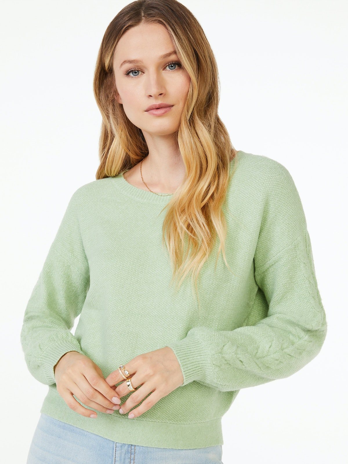 Puff Sleeve Sweater with Cross Back Tie