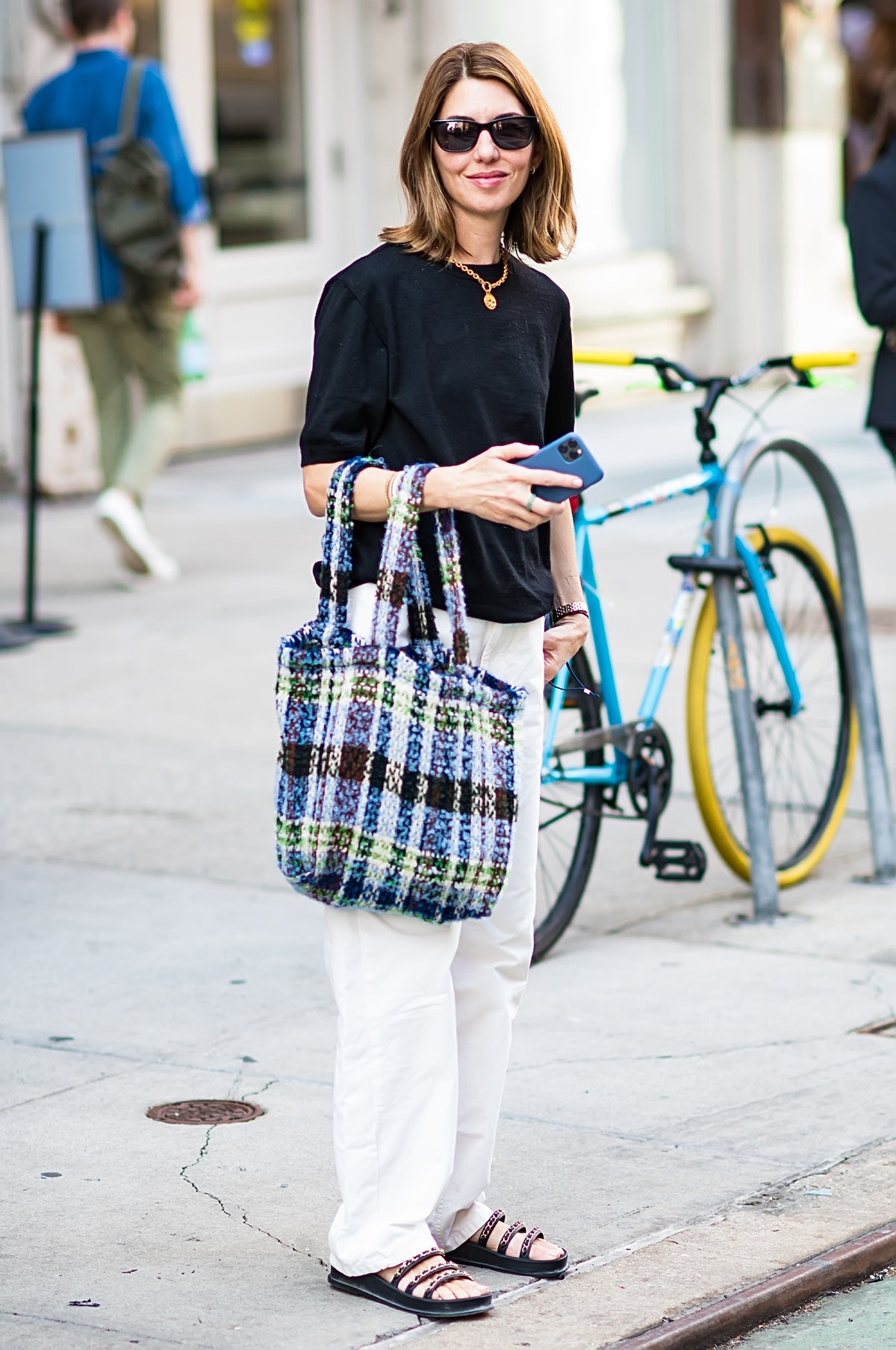 Sofia Coppola is seen leaving the Anna Sui Spring Summer 2022 during New York Fashion Week at Indoch...