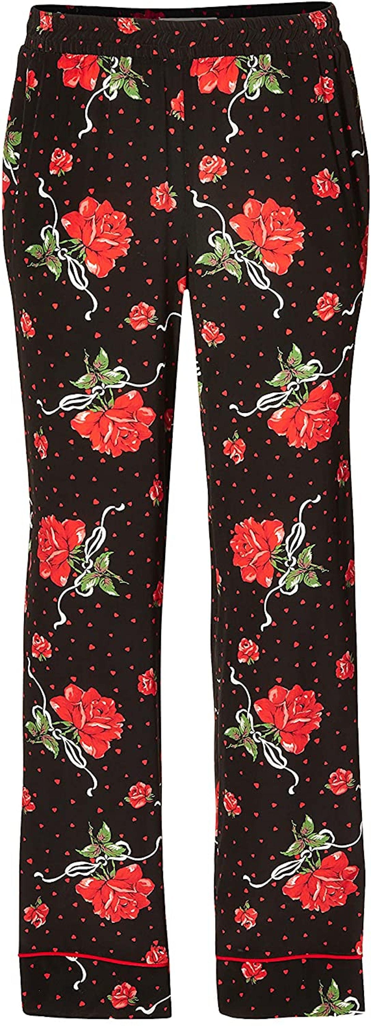 Red Rose Silk Pajama Pant