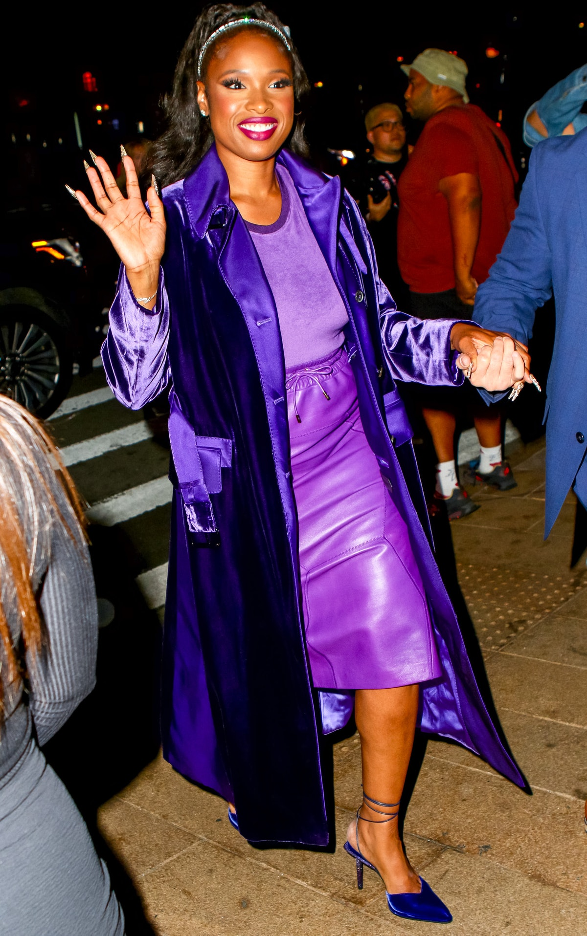 Jennifer Hudson is seen arriving to the Tom Ford's fashion show during New York Fashion Week at Linc...