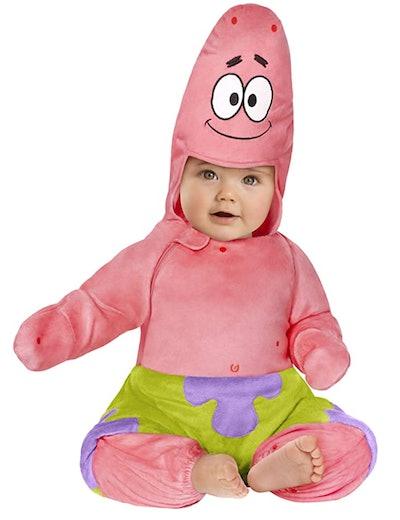 "Baby dressed up as Patrick from ""Spongebob Squarepants"""