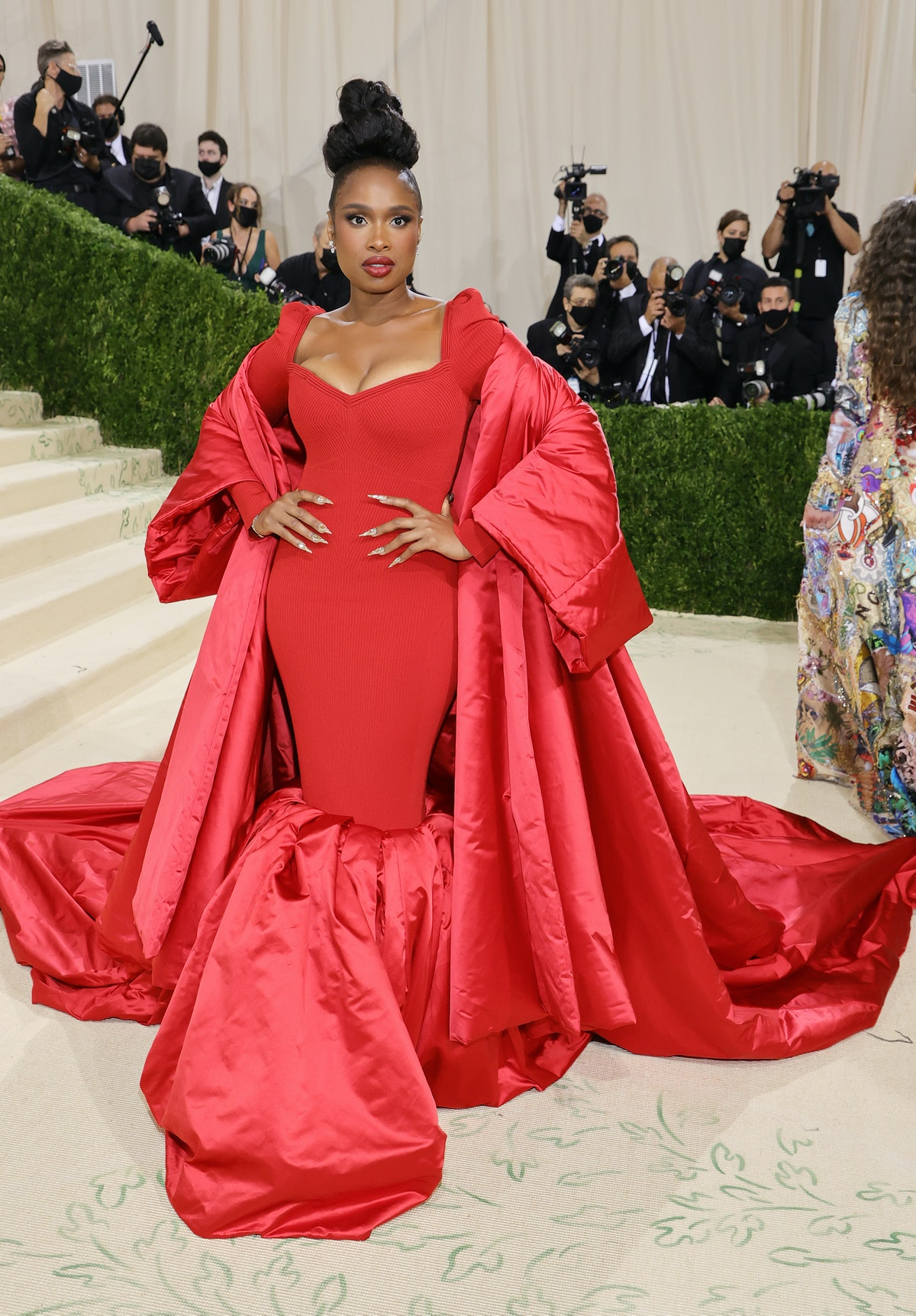 Jennifer Hudson attends The 2021 Met Gala Celebrating In America: A Lexicon Of Fashion at Metropolit...