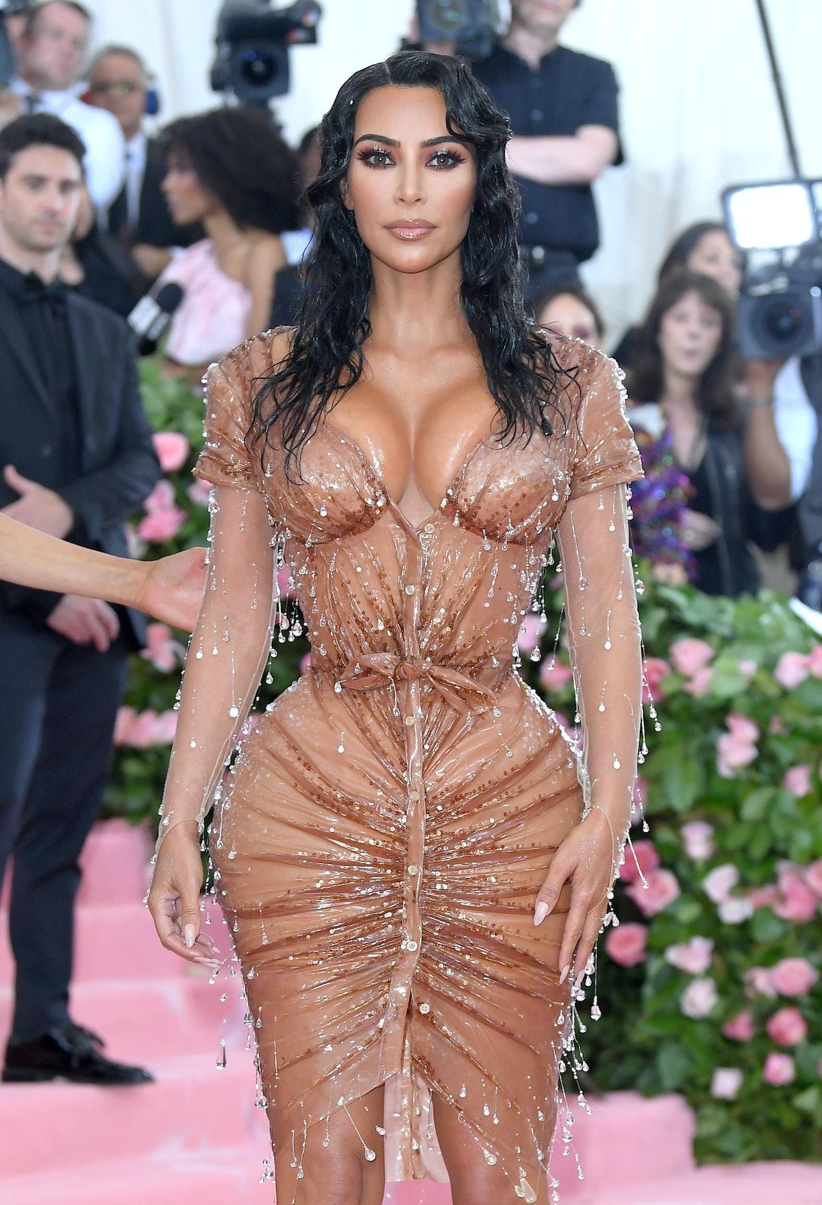 Kim Kardashian West arrives for the 2019 Met Gala celebrating Camp: Notes on Fashion at The Metropol...