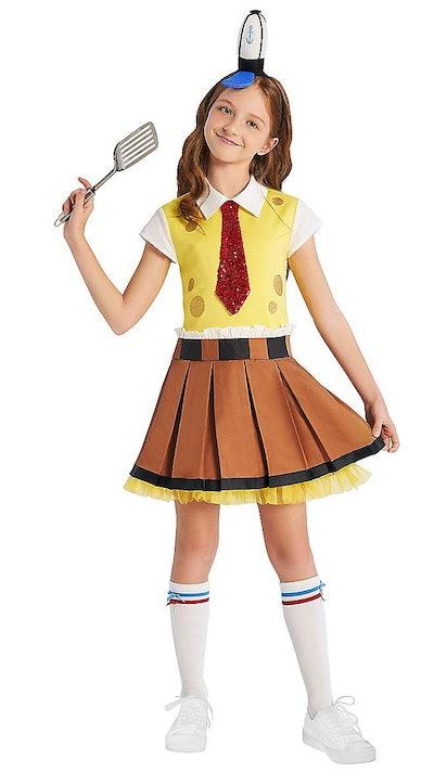 "Girl dressed as Spongebob from ""Spongebob Squarepants"""