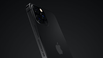 Apple iPhone 13 matte black render