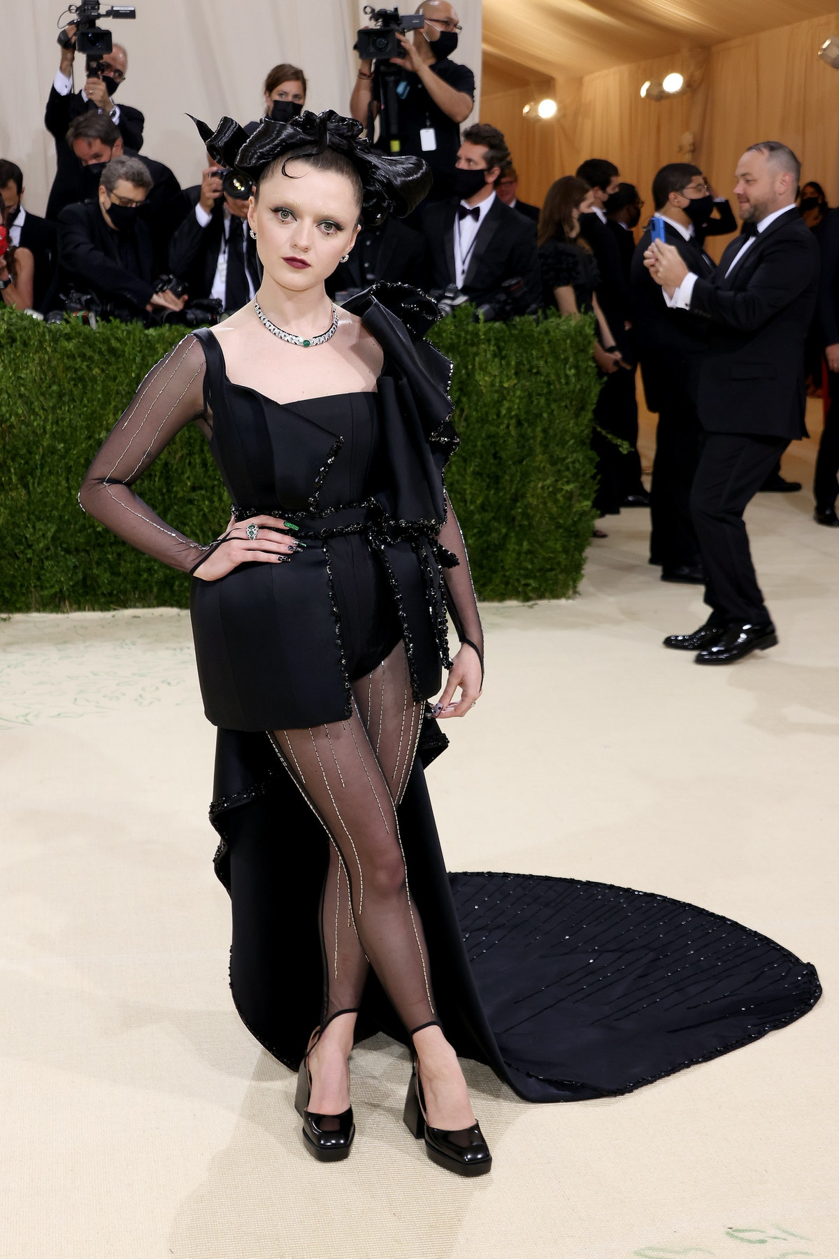 Maisie Williams attends The 2021 Met Gala Celebrating In America: A Lexicon Of Fashion at Metropolit...