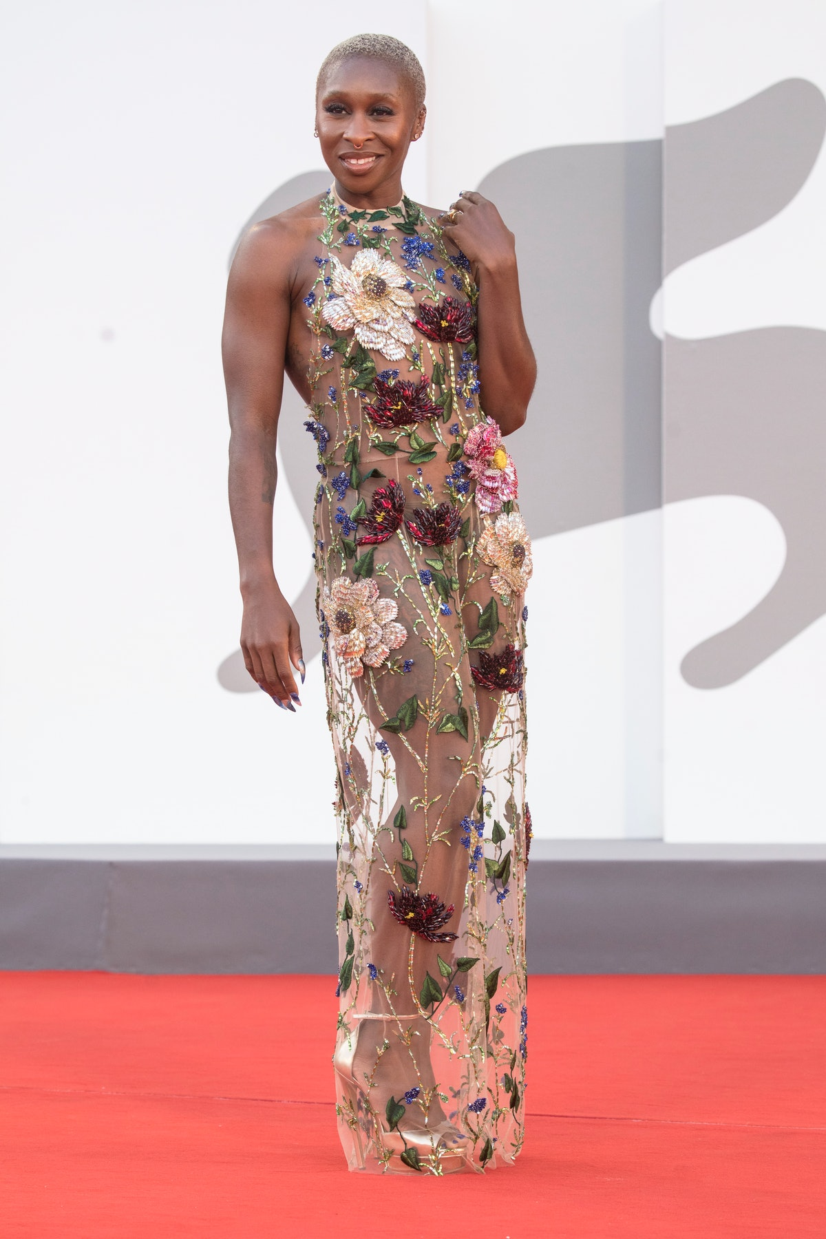 Cynthia Erico attends the closing ceremony red carpet during the 78th Venice International Film Fes...