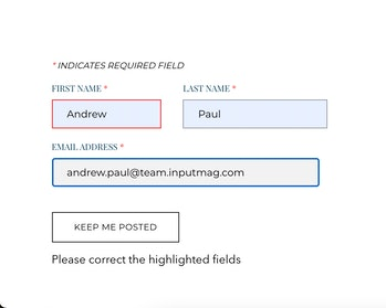 Privateer Space contact form screenshot