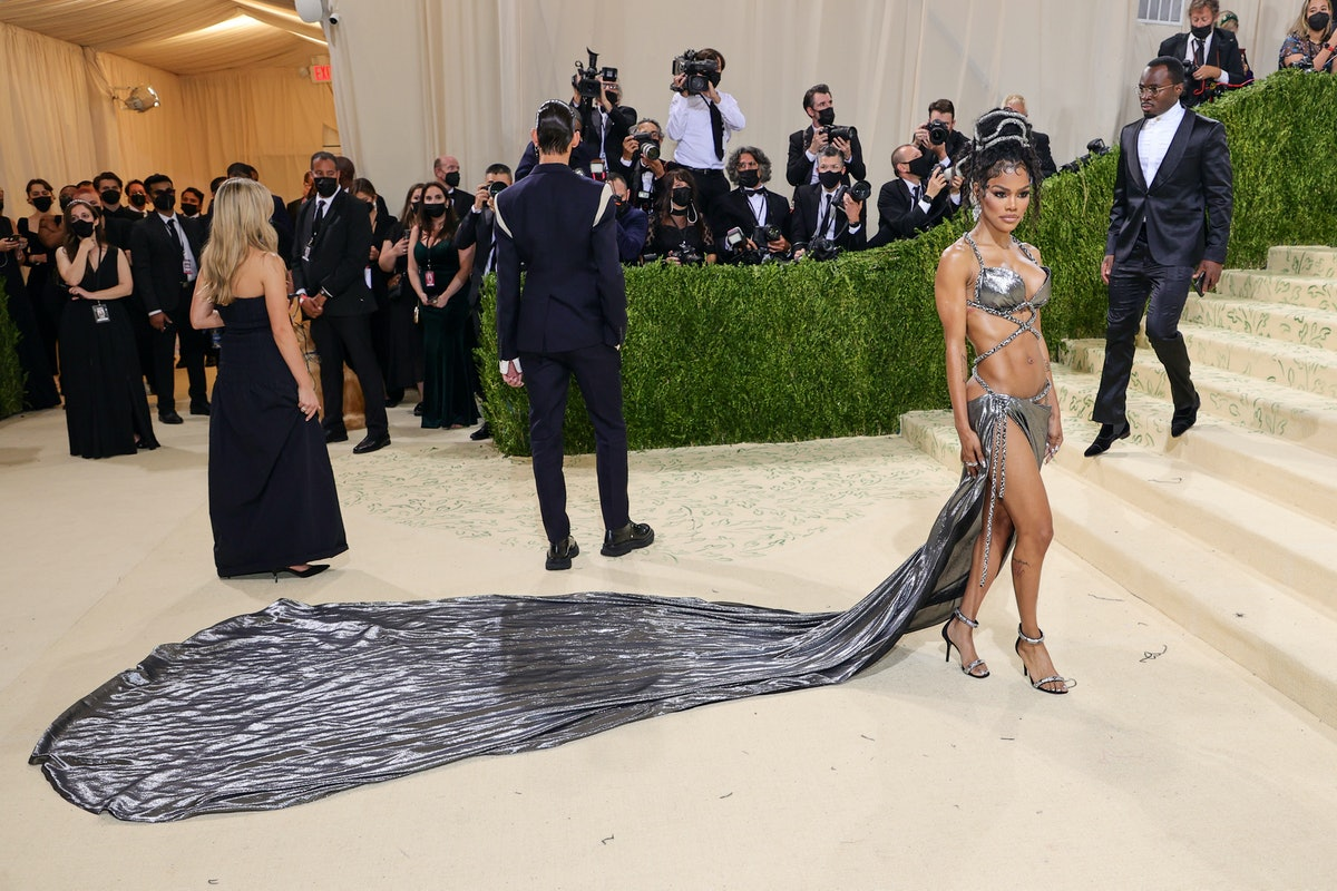Teyana Taylor attends The 2021 Met Gala Celebrating In America: A Lexicon Of Fashion at Metropolitan...