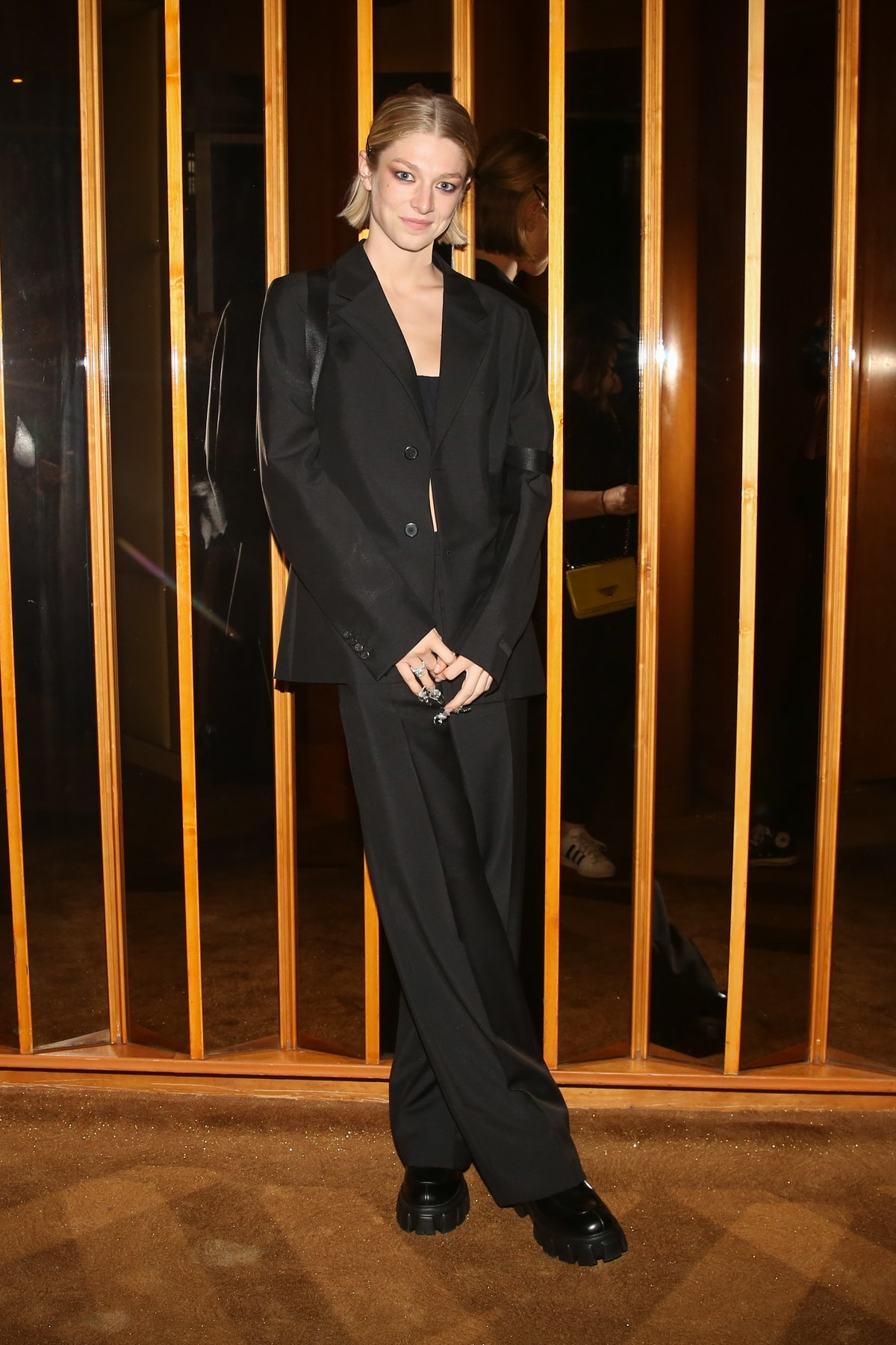 Hunter Schafer attends a Met Gala after-party at the Boom Boom Room on September 13, 20221.