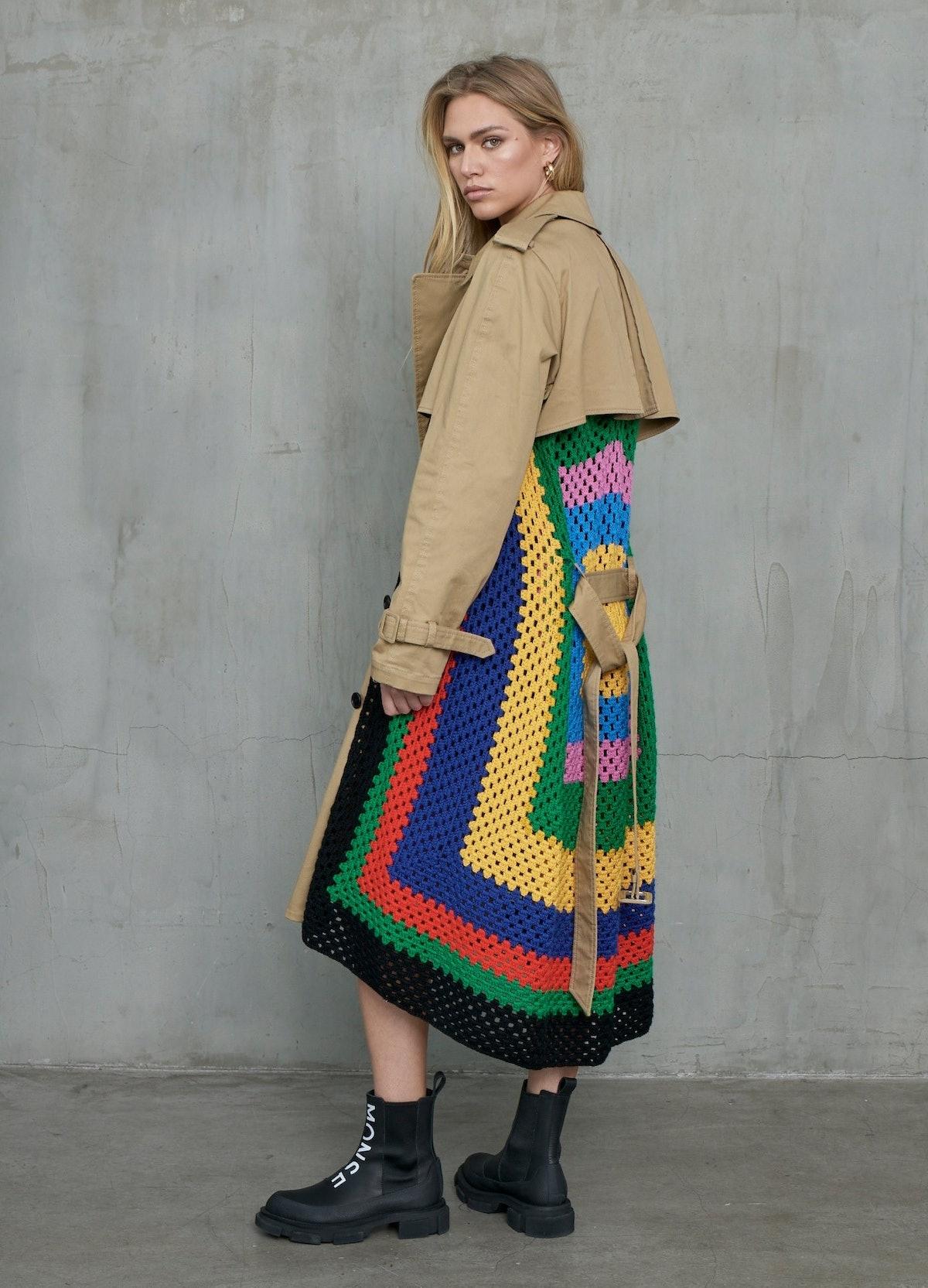 Crochet Trench Coat