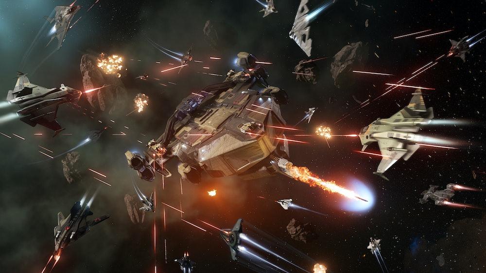 Star Citizen Space battle
