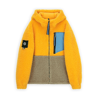 mutlicolor fleece jacket from sustainable brand, Edit+