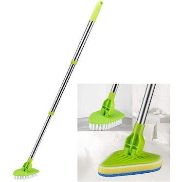 Globalstore Floor Scrub Brush with Adjustable Long Handle