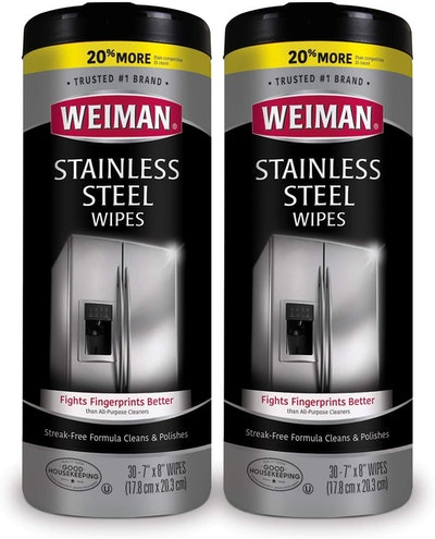 Weiman Stainless Steel Wipes and Polish Kit