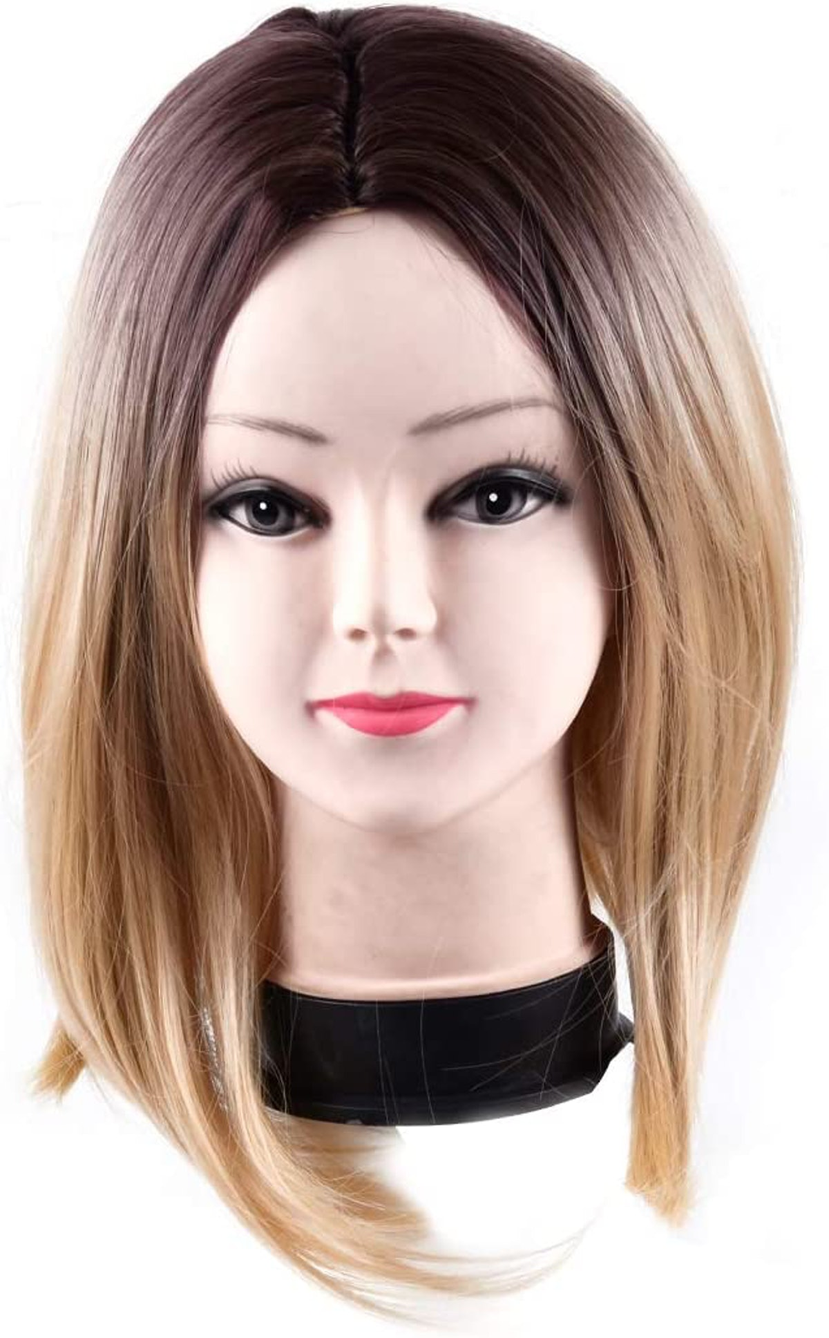 A bob cut wig with dark roots for a Mare of Easttown DIY Halloween Costume