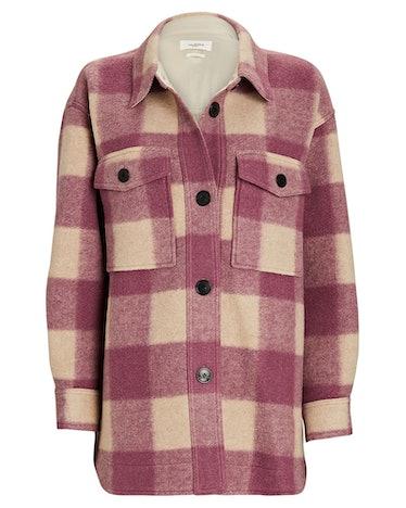 Harveli Plaid Flannel Shirt Jacket