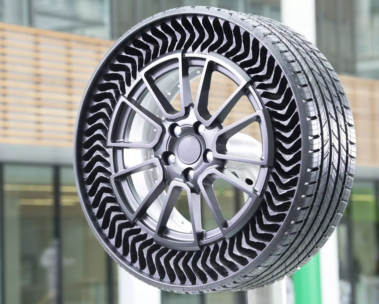 Michelin has previewed a new airless tire design for passenger vehicles.