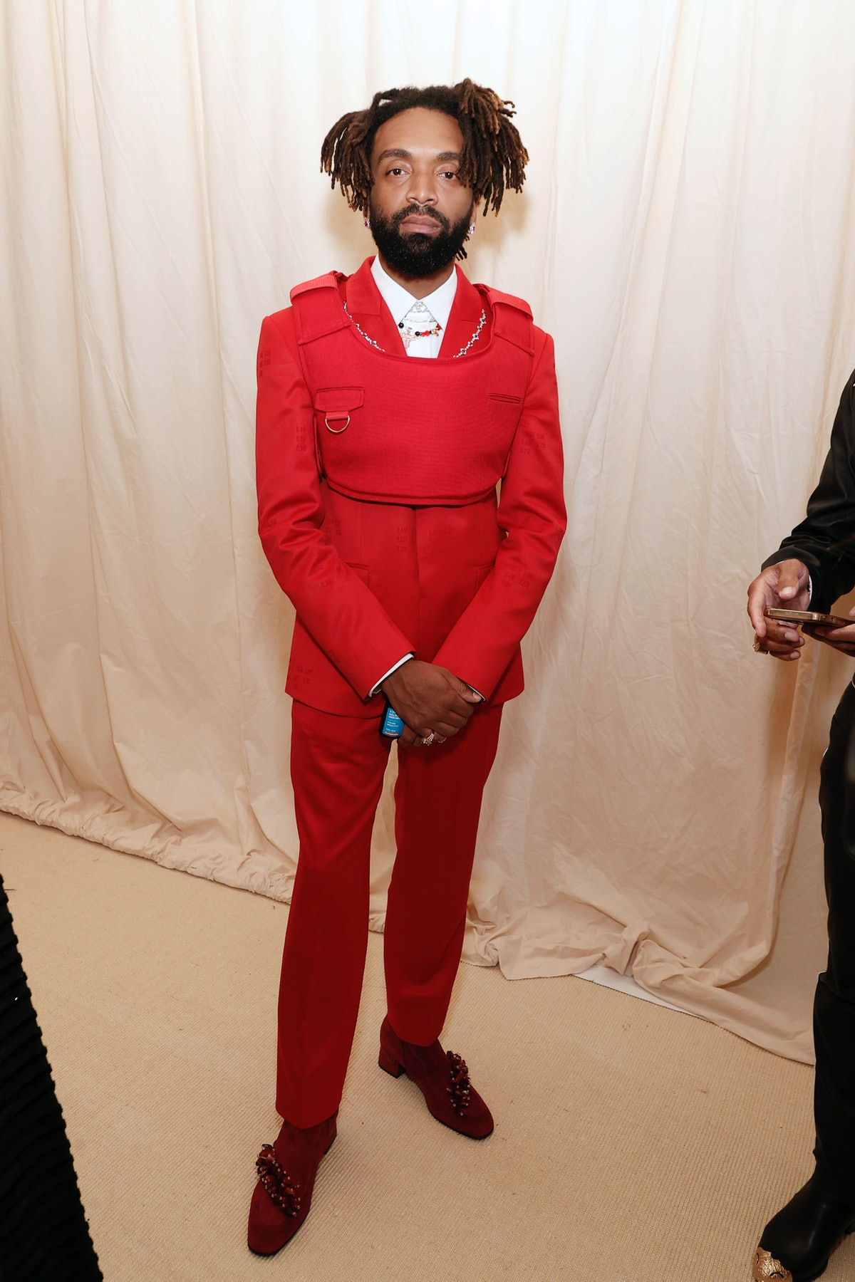 Kerby Jean-Raymond attends The 2021 Met Gala Celebrating In America: A Lexicon Of Fashion at Metropo...