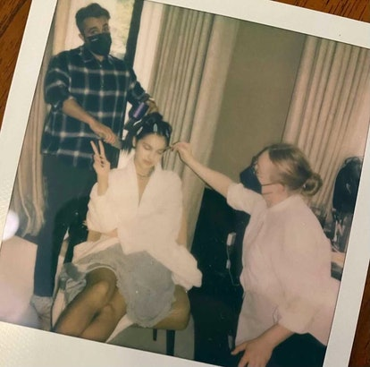 Olivia Rodrigo's Met Gala 2021 hairstyle — courtesy of Clayton Hawkins — was inspired by punk.