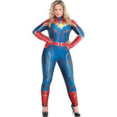 Adult Light-Up Captain Marvel Costume
