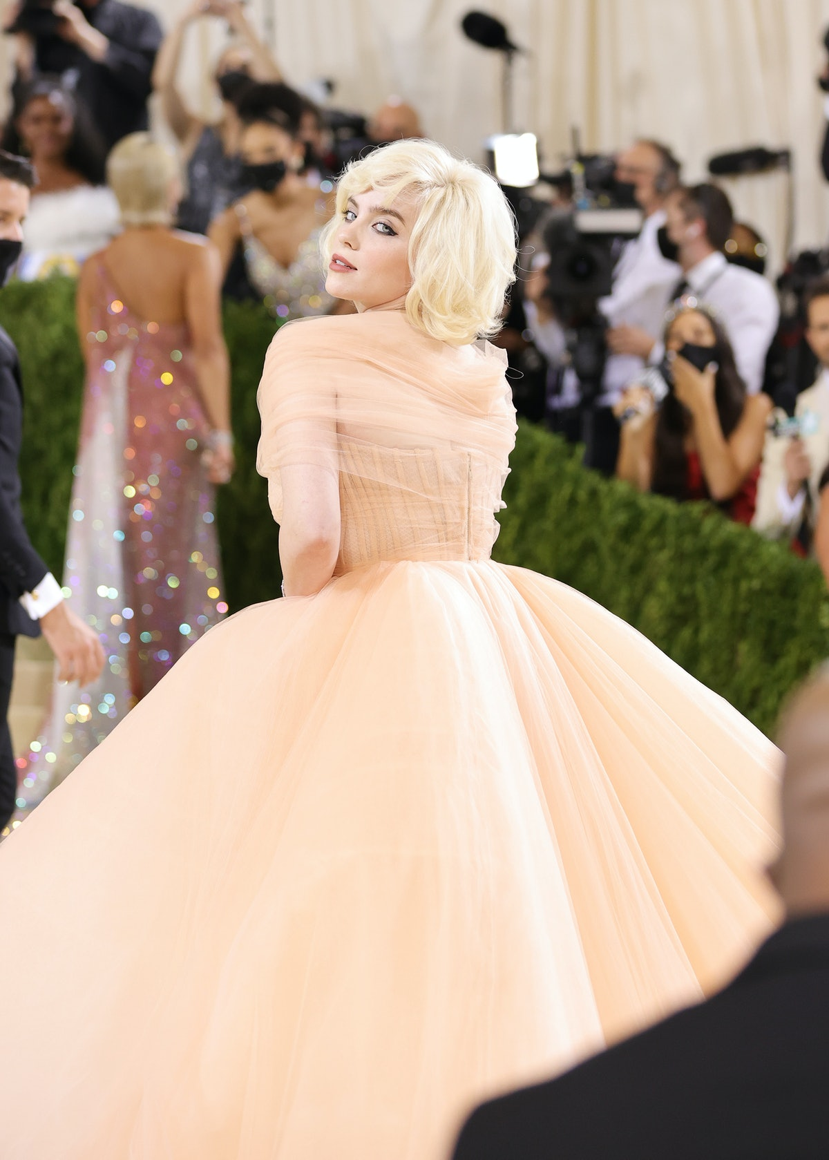Co-chair Billie Eilish attends The 2021 Met Gala Celebrating In America: A Lexicon Of Fashion at Met...