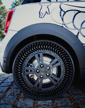 Michelin has previewed its new airless tires which are said to last longer than conventional air-fil...