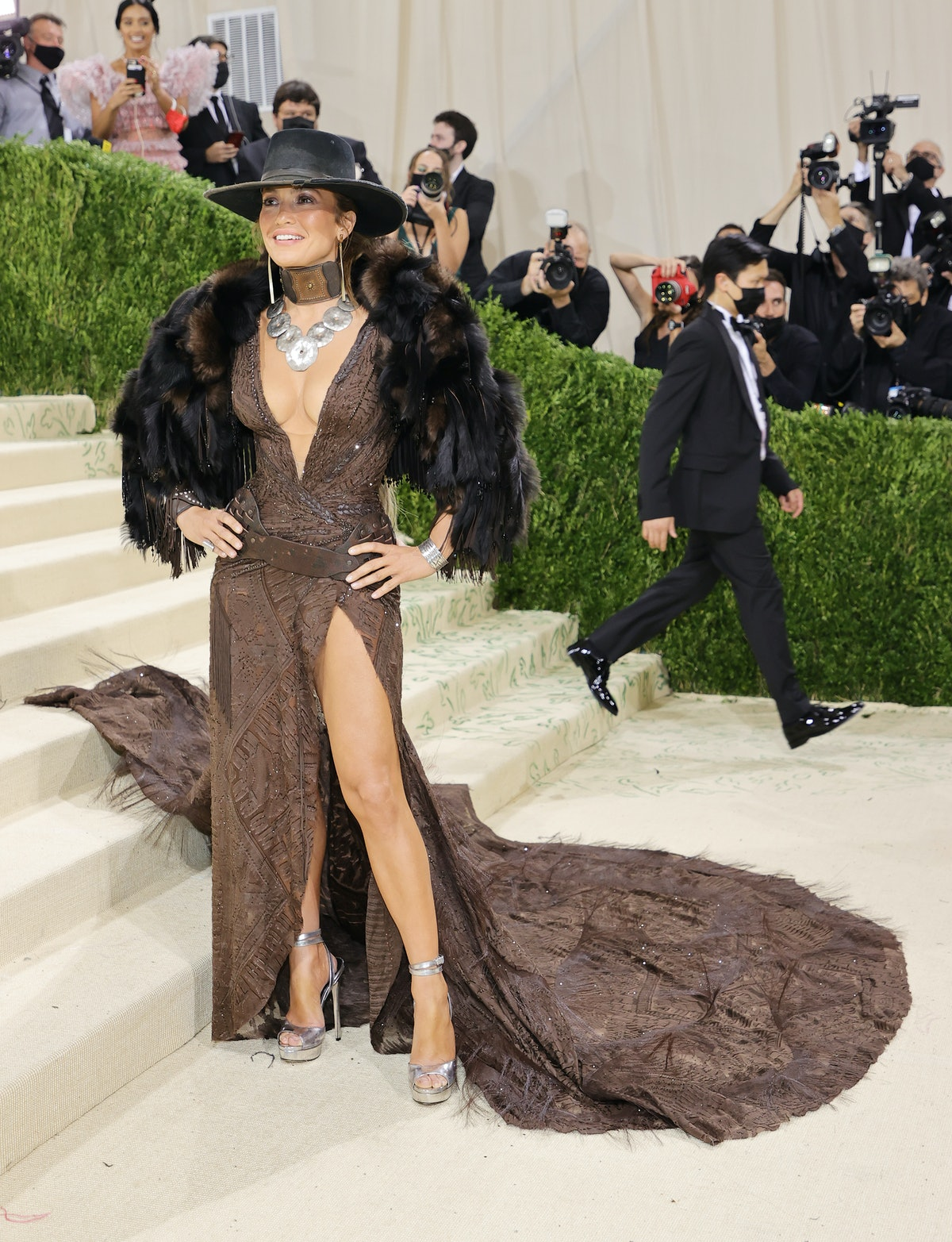 Jennifer Lopez attends The 2021 Met Gala Celebrating In America: A Lexicon Of Fashion at Metropolita...