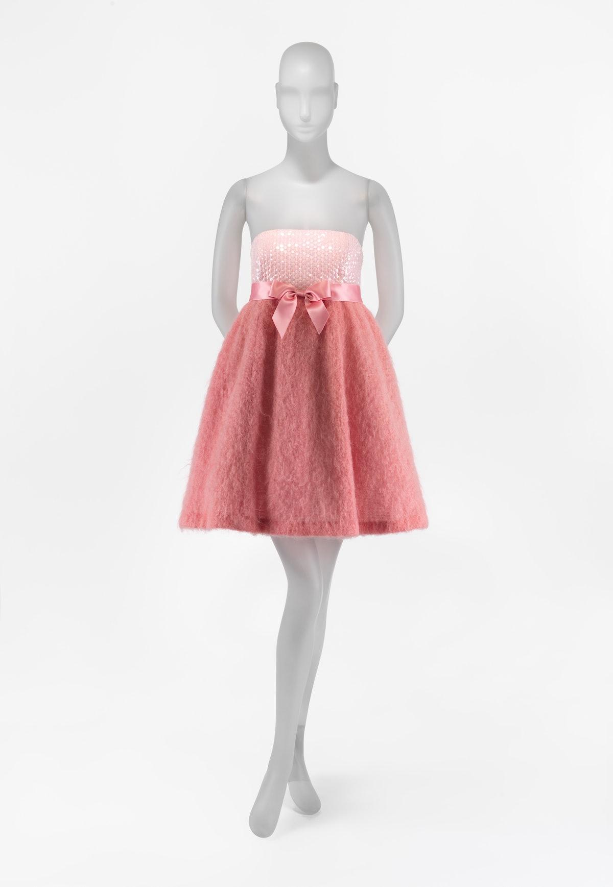 A pink babydoll dress by Isaac Mizrahi