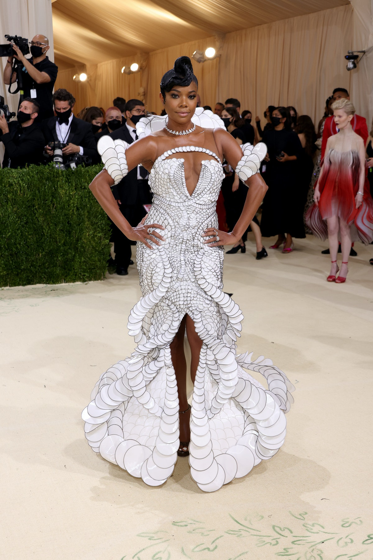 Gabrielle Union attends The 2021 Met Gala Celebrating In America: A Lexicon Of Fashion at Metropolit...